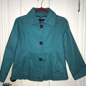 Black Rivet turquoise women jacket